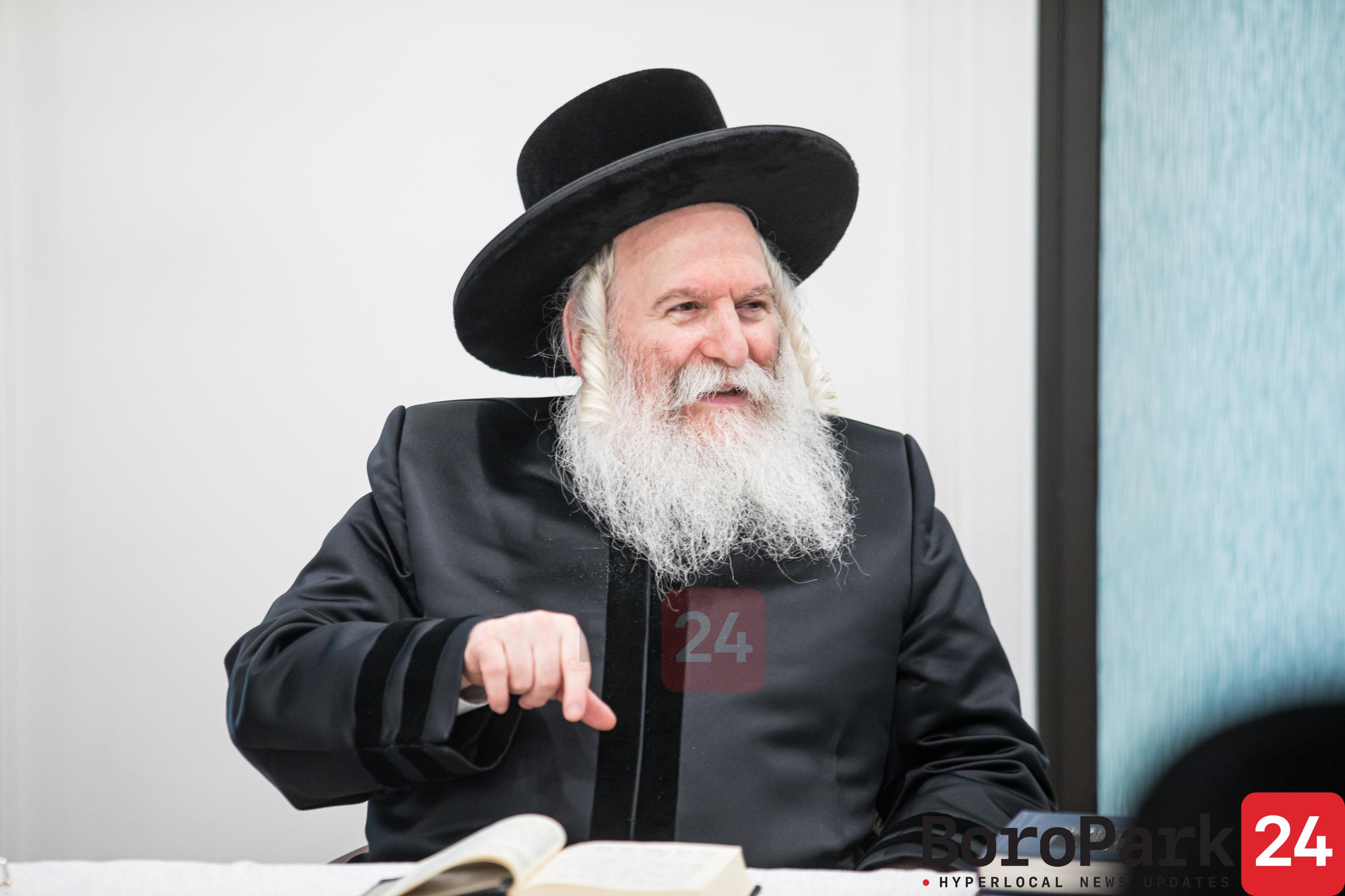 Bobov Rebbe Visits Linden