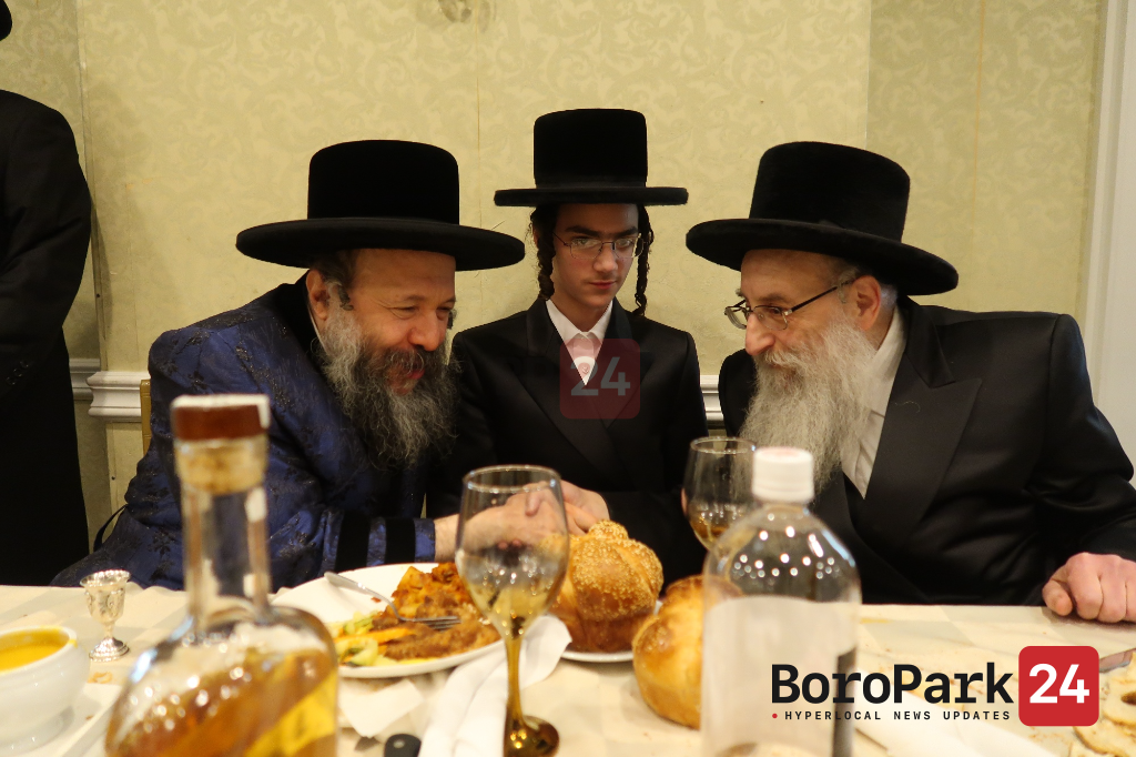 Bar Mitzvah for son of the Linsk Rov and Grandson of Rosh Yeshivas Beis Meir