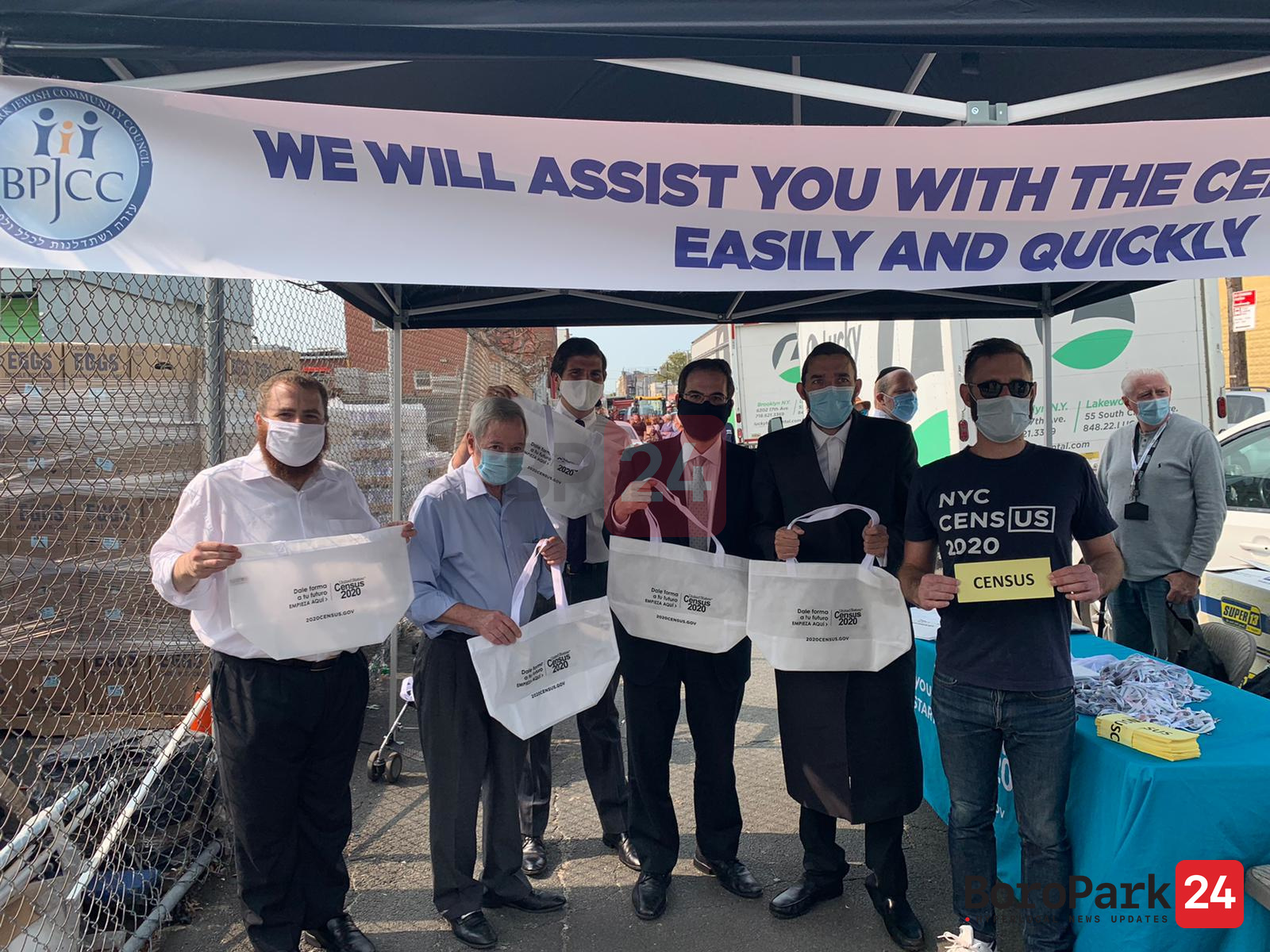 Boro Park JCC, in partnership with Met Council, Holds Rosh Hashana Food Distribution & Census Drive-Thru Event