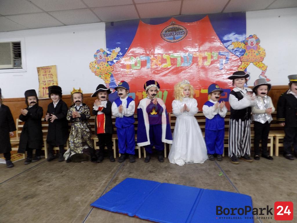 Purim Shpiel in the Minkatch Cheider in Boro Park