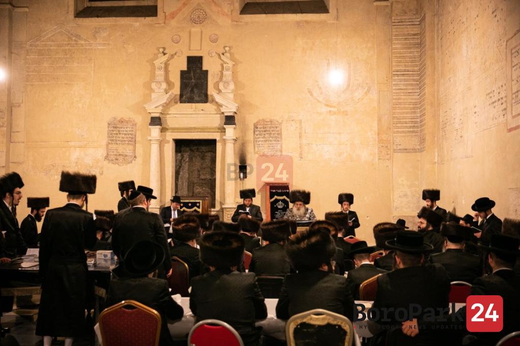 "Krula Rebbe on a trip to Mekomosh Hakedoshim in Europe to the Yurtzeit of the Saba Kadisha of Radashitz Zy""u"