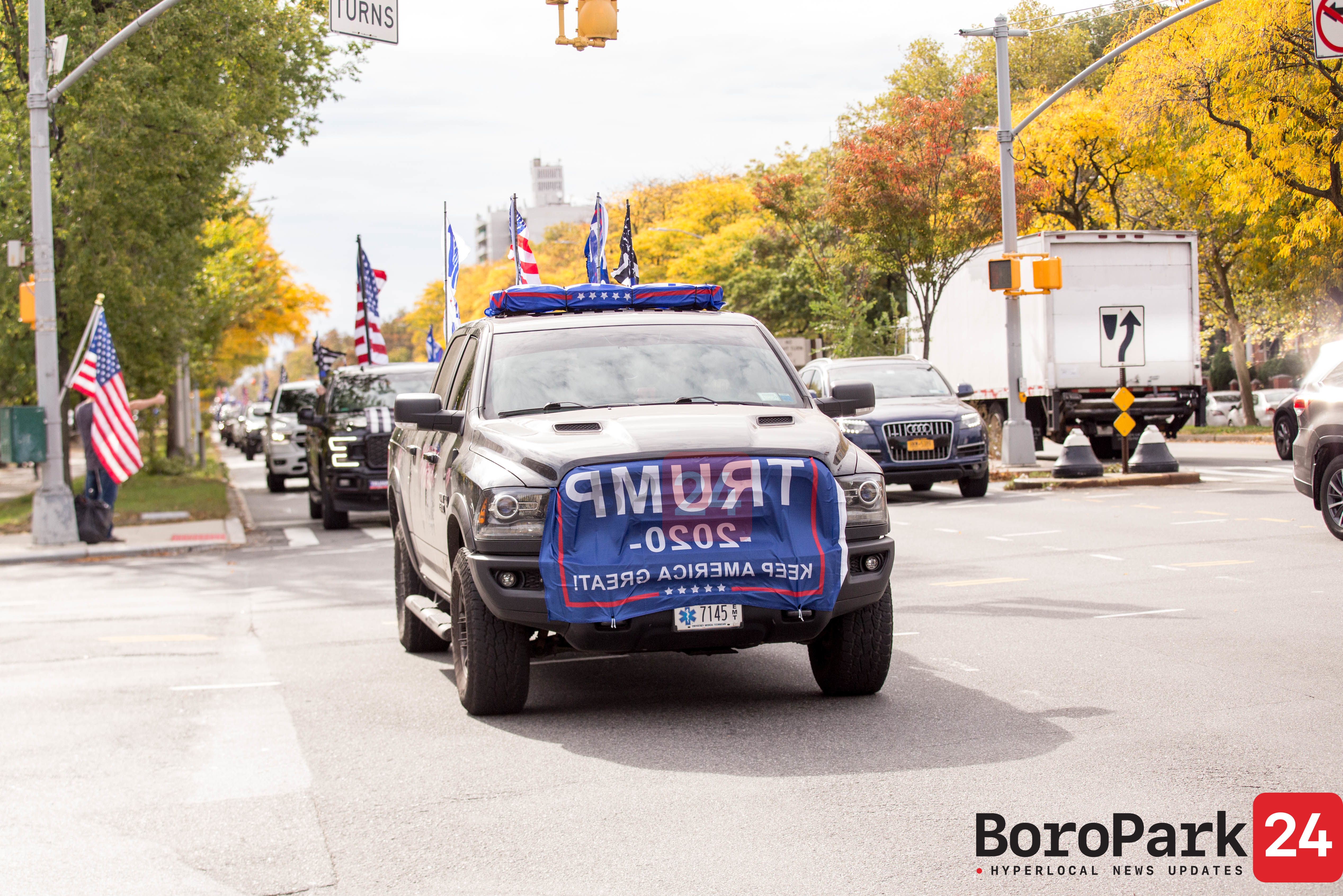 Supporters of President Trump Drive on Sunday from Five Locations in NYCMAGADRAG