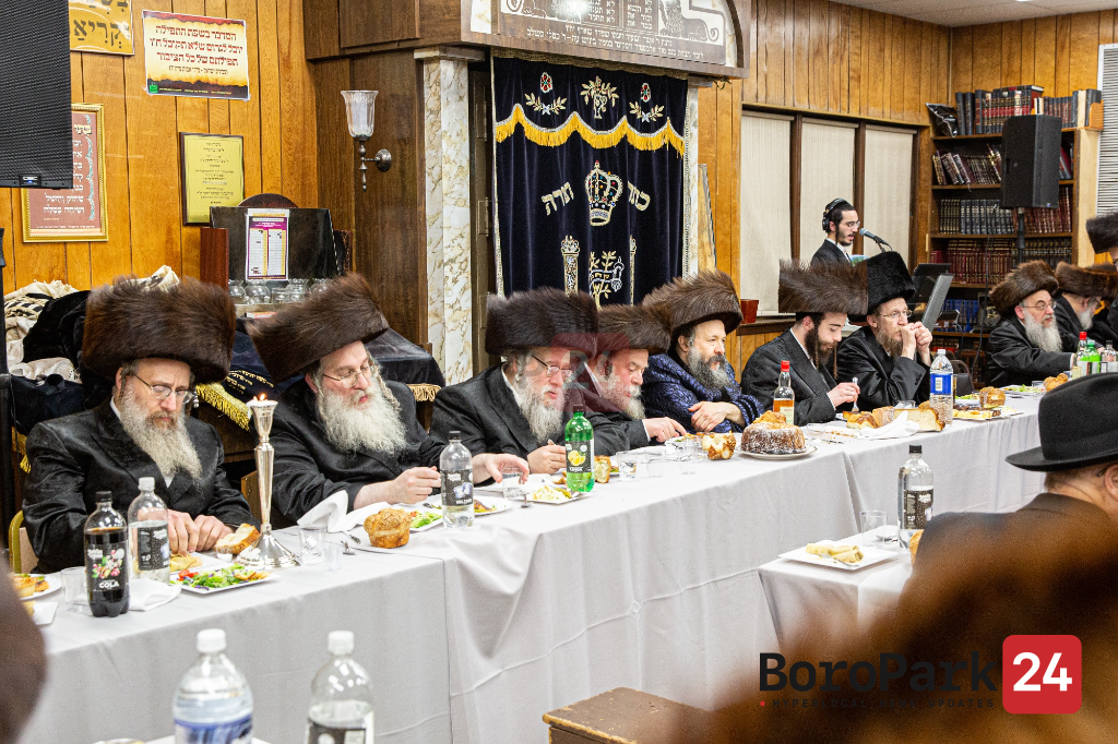Sheva Bruches for Son of Dombrova Rebbe with Daughter of the Aleksander Rebbe