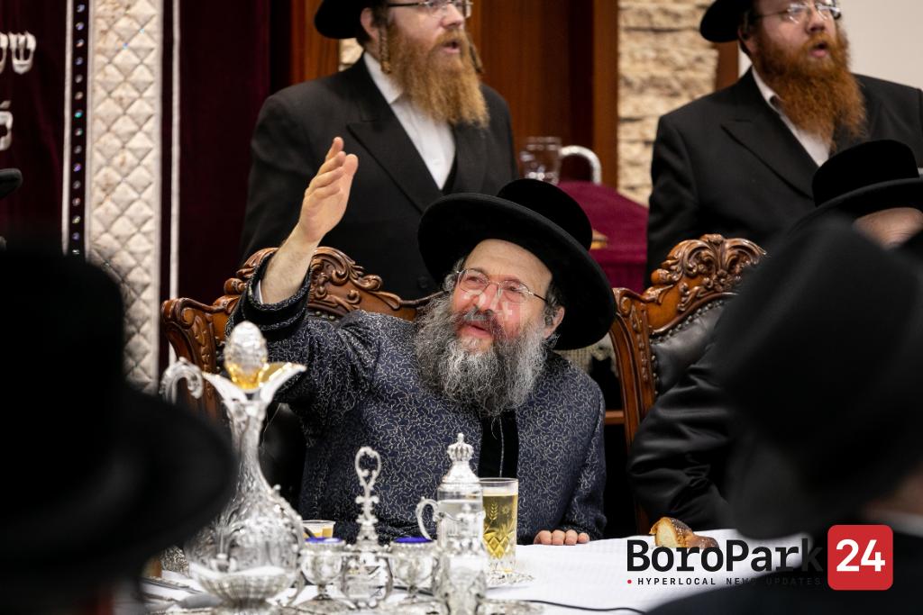 """Yurtzeit of the Kedishas Zion of Bobov Zy""""u by the Bobov-45 Rebbe in Camp Mesivtah of Bobov-45"""