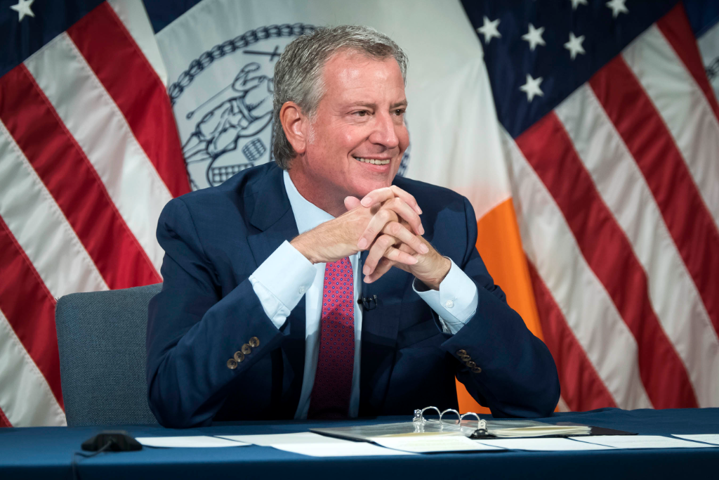 Mayor de Blasio Mandates Choice of Vaccination or Weekly Testing and Masks for All City Workers