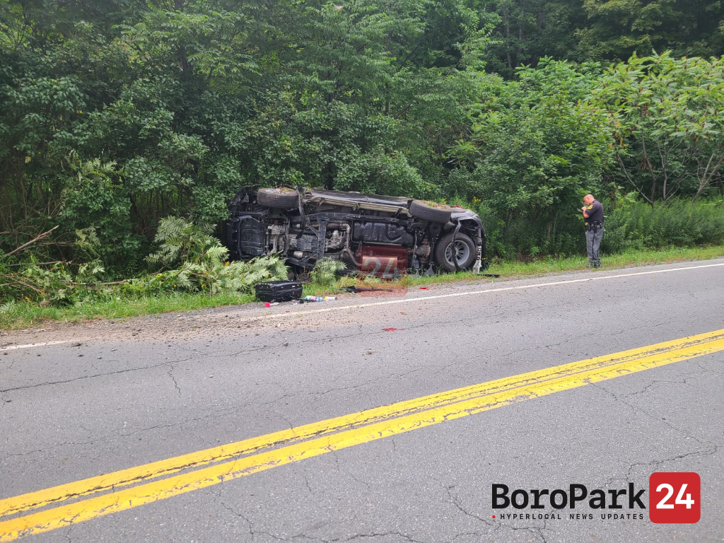 One Injured in Rollover Vehicle Accident on NY-17