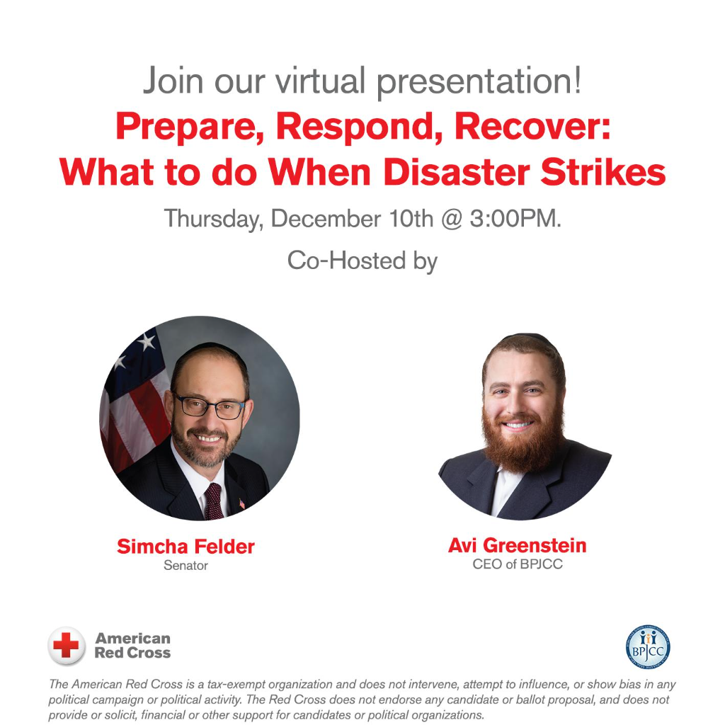 Chanukah Safety Event - American Red Cross partners with Senator Simcha Felder and Boro Park JCC offering a Fire Safety Event