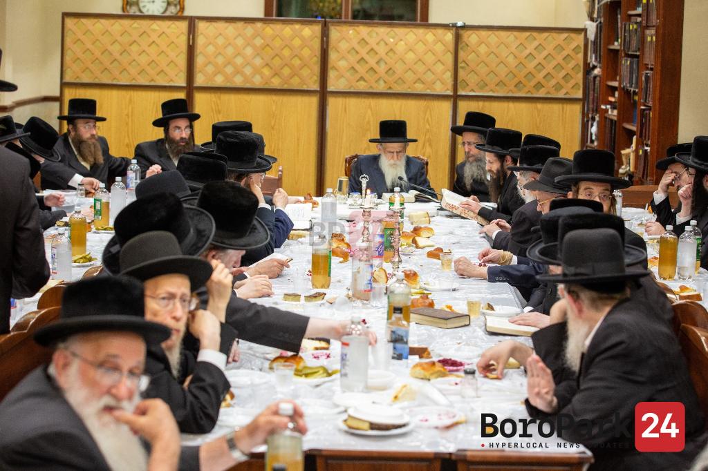 "Yurtzeit of the Kedishas Zion of Bobov Zy""u by the Beis Chaim Shia Rebbe"