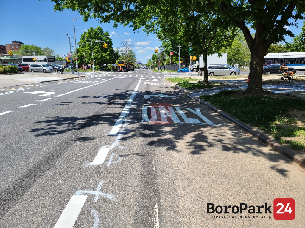 DOT Adds Turn Lanes on Fort Hamilton and McDonald Ave