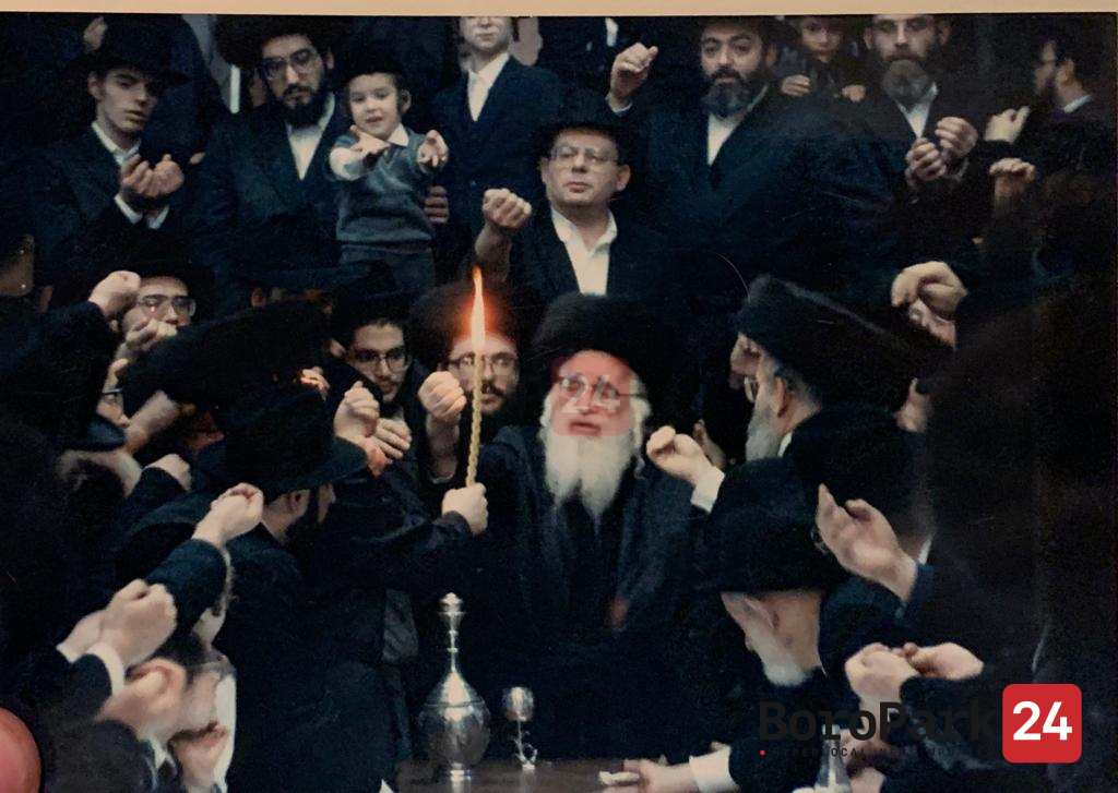 """PHOTO GALLERY: The Yeshuas Moshe of Visnitz Zy""""u, whose Yartzeit is today, during his visits to Boro Park"""