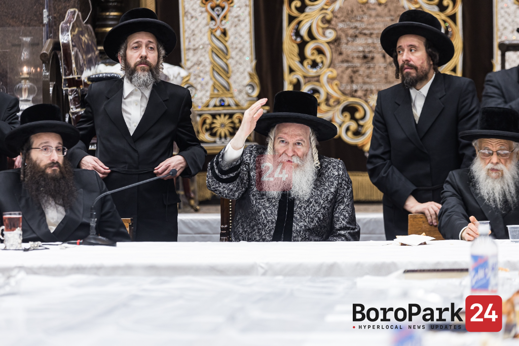 "Yurtzeit of the Kedishas Zion of Bobov Zy""u Hy""d by the Bobover Rebbe"