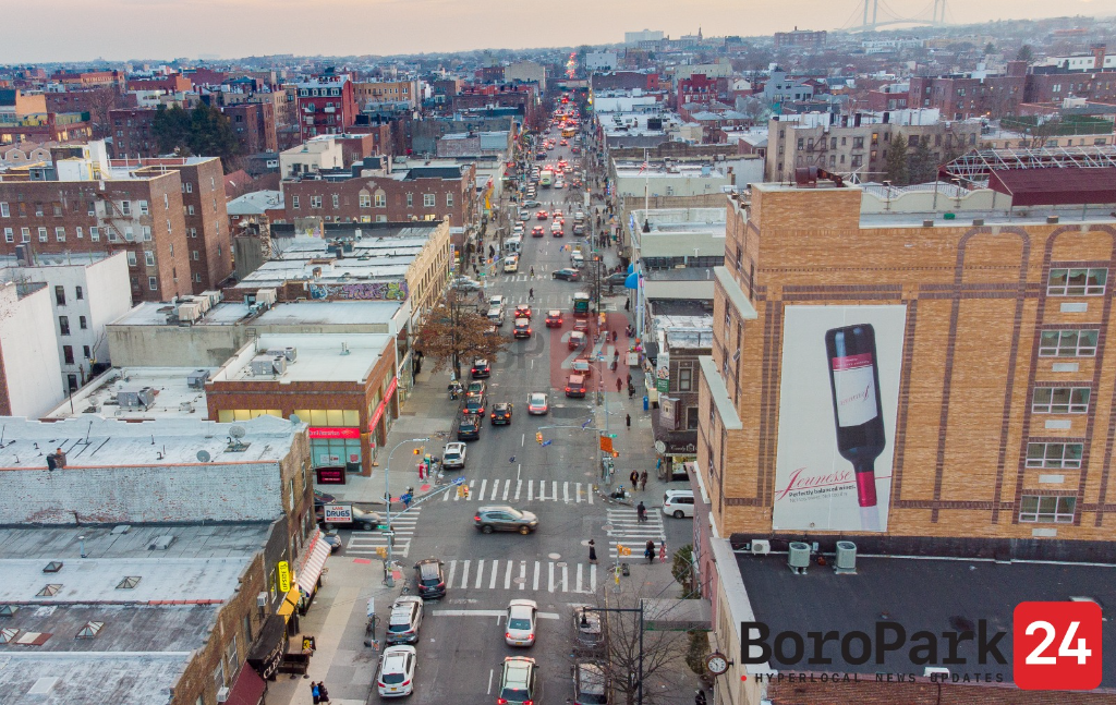 Ari Kay captured a bird's eye view of Boro Park.