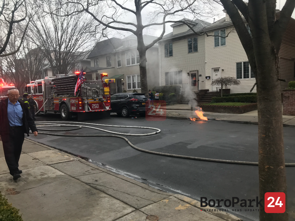 Manhole fire extends to nearby house on 55th street