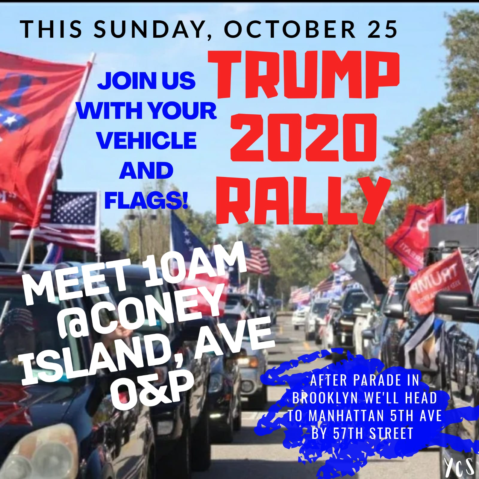 Car Rally and Parade for President Trump Starts on Sunday at 10am on Coney Island Ave
