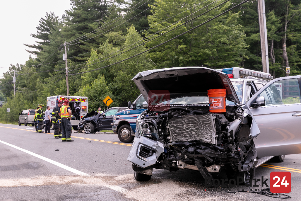 Multiple Injuries After Vehicles Collide in Front of Ichud Bungalow Colony